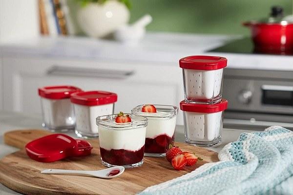 Les pots de yaourt en verre de SEB